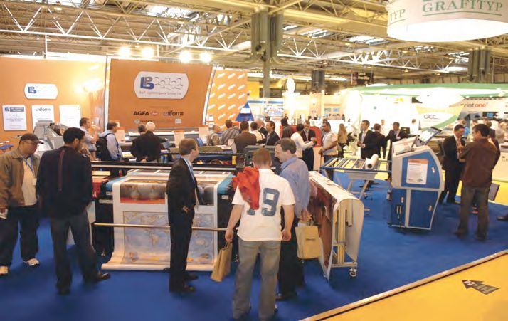 A crowded exhibition hall