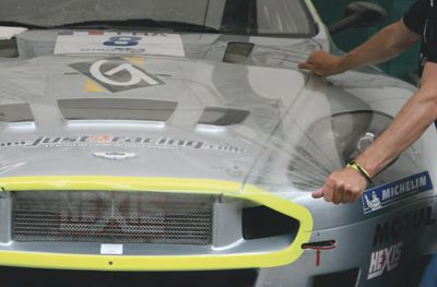 Hexis vehicle protection film on a GT3 Aston-Martin.