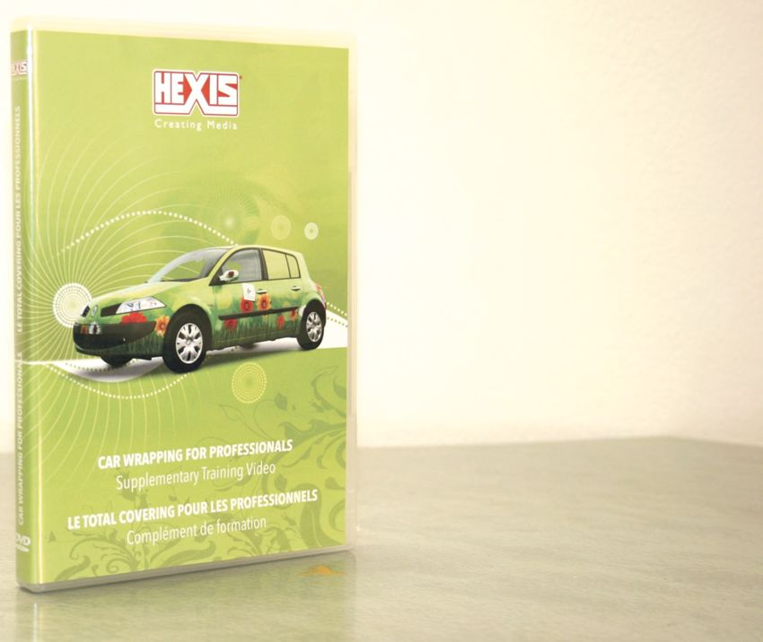 Cover of the Hexis vehicle wrapping DVD
