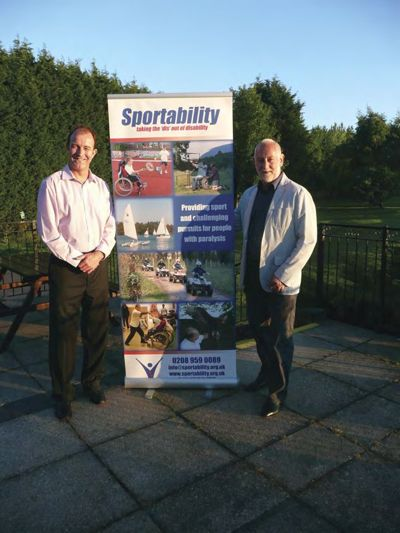 Signwaves CEO Mark Ford with Sportability Chief Executive David Heard at the 'Rookery Park Sportability Golf Classic' event.