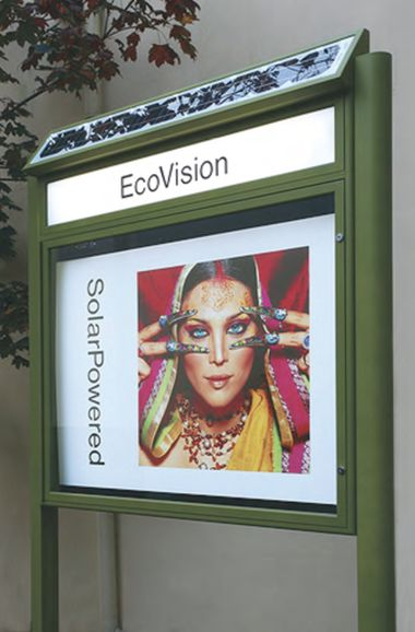 EcoVision's solar powered notice board.