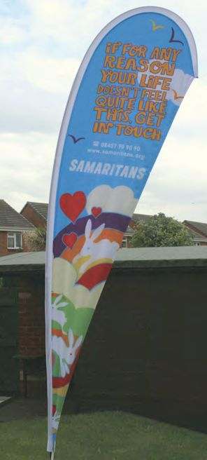 The double sided tear drop banner