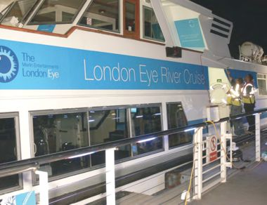 The London Eye river cruiser after the rebrand.