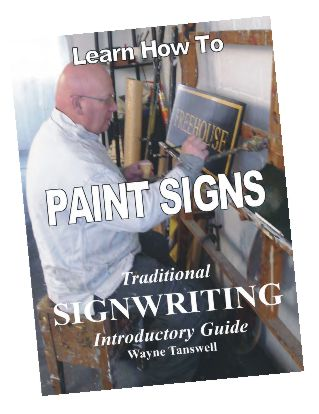 The cover of Wayne's book on traditional signwriting.