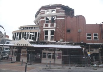 Yates Wine Lodge in Blackpool, after being damaged by fire.