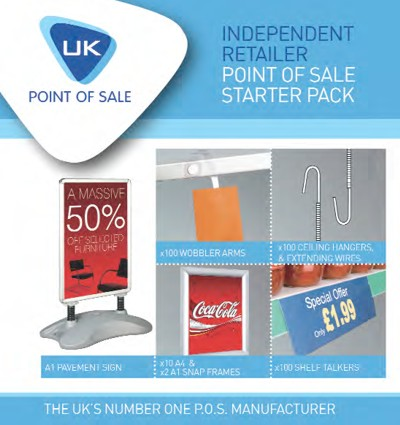 UK Point Of Sale launch Independent Point-Of-Sale starter pack advert