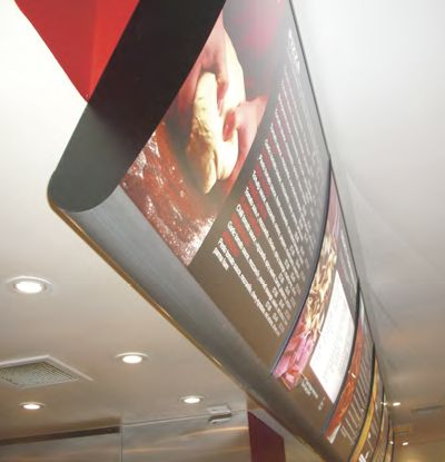 Vista's flexible illuminated curved menu system