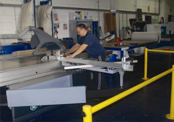Ashby's brand new Altendof sliding table saw.