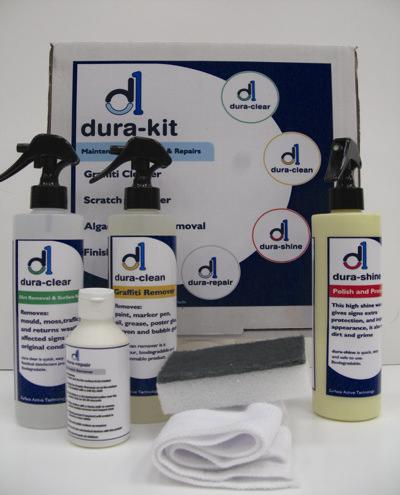The Dura-Kit available from Durable Signs.