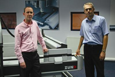 Shaun Thompson, Sales Director for GPT and Peter Giddins, Sales Director for Zünd Plotting Systems UK.