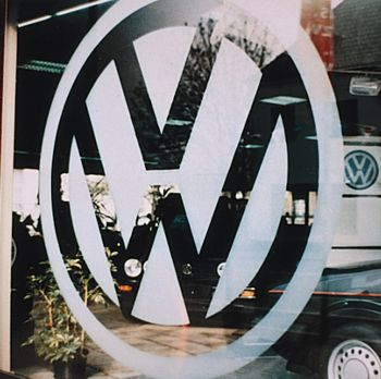 3M Translucent film used in the window of a VW garage