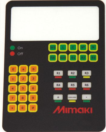 Example of output created with the Mimaki UJF-3042