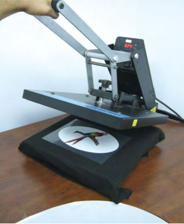 Pressing the graphic using a heat press