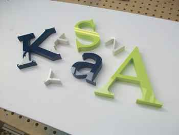 Acrylic 20mm letters