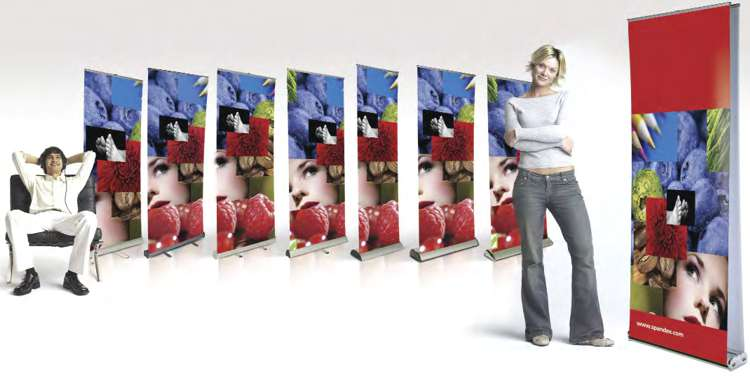 The 300 Series of Roll-Up Displays by Spandex.