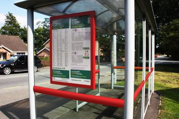 The Avenue signage at bus stop