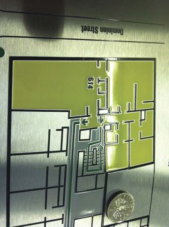Trade etched floorplan
