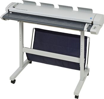A model of the large format scanner