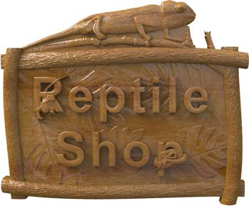 Sign for reptile shop