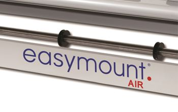 Close up of the machine showing the words Easymount air