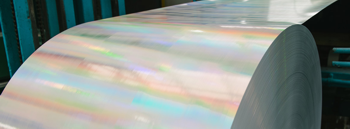 a roll of holographic effect wallpaper