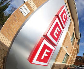 CEF Illuminated Head Office Signage with pushed through lettering and 50mm returns.