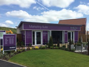 Marketing suite, full cabin signage with cut out brushed aluminium and dibond panels/Signage