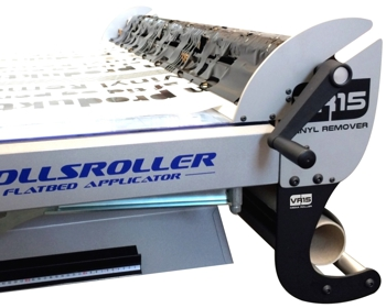 Close up of the rollsroller vinyl weeder