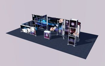 a range of exhibition stands