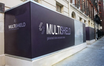 Hoardings around a building site