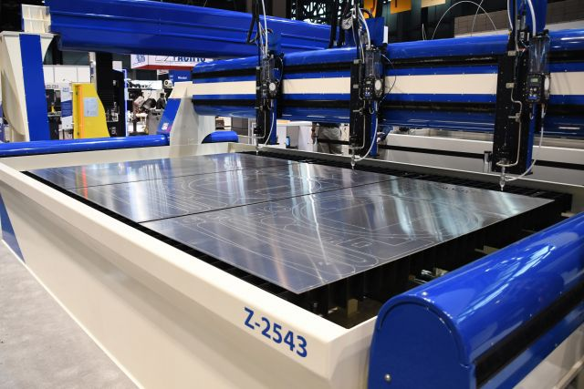 The AXYZ new Waterjet Cutting System