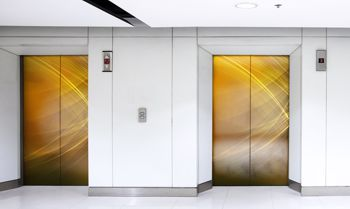 VistaMax Short Term Vinyls being used on an elevator door.