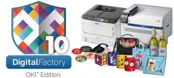 Digital Factory v10 OKI Edition with printers to the side