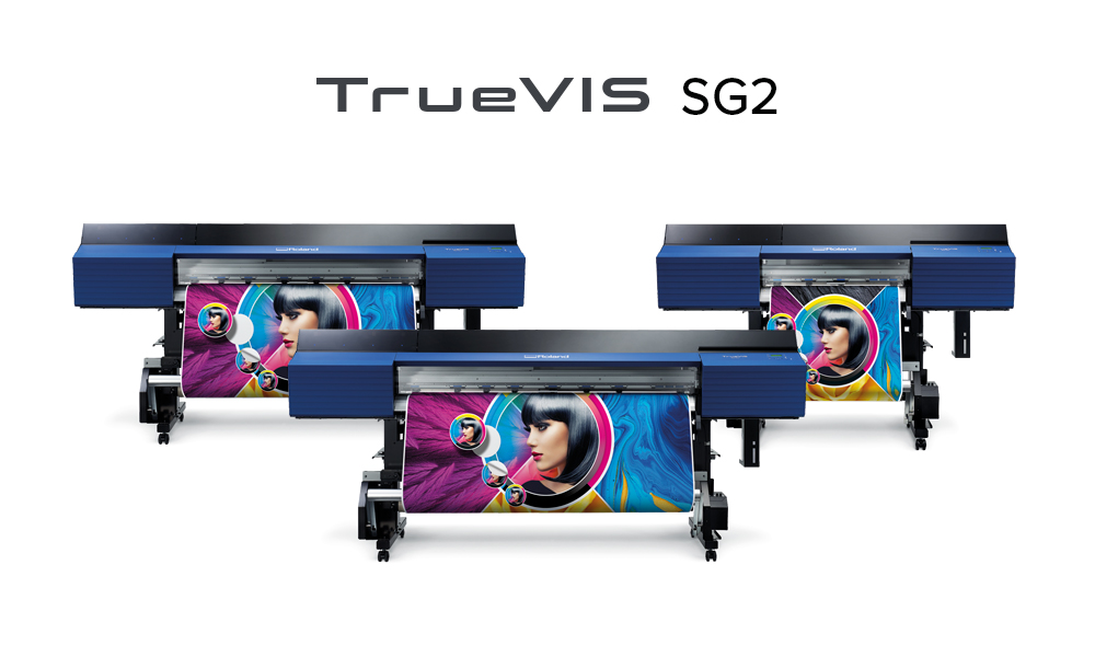 The new SG2 wide-format eco-solvent printer/ cutters added to Roland DG's TrueVIS series.