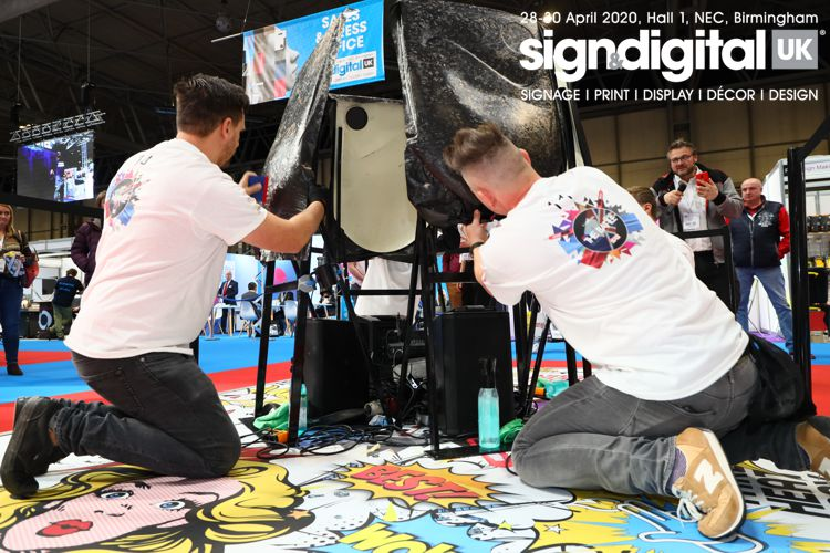 Wrapping competition at UK Sign & Digital exhibition