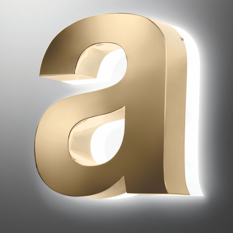 Halo Polished Gold Effect 3D Built-up Letter from Applelec