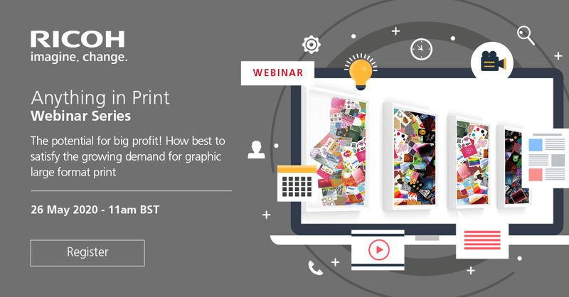 Banner promoting a webinar on Wide Format Printing.