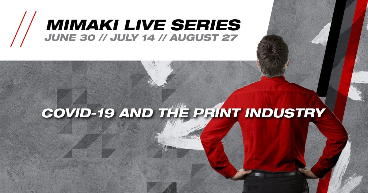 Banner promoting the Mimaki Live Event Series