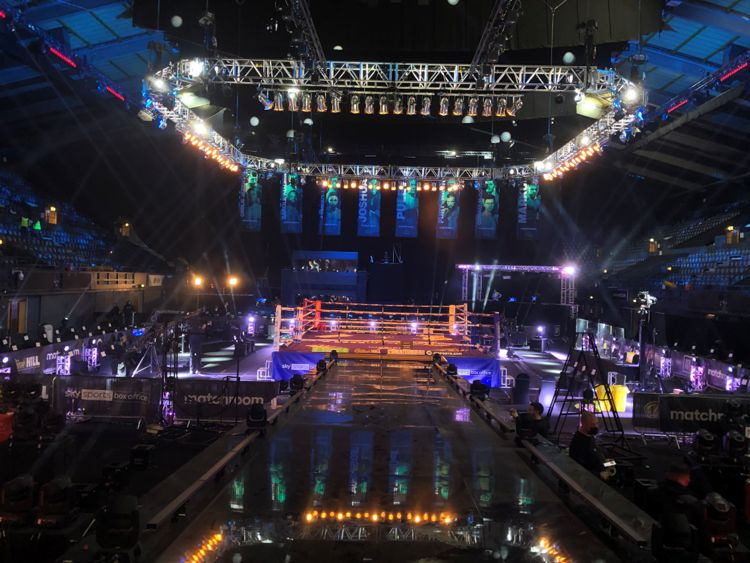 A boxing ring in Wembely Arena