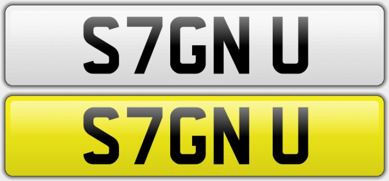 'S7GN U' Registration number for sale