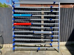 Print media & vinyl storage wall rack
