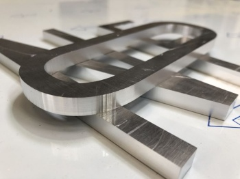 8mm thick aluminium letters