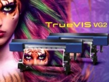Roland truevis vg2  printer printing out a picture
