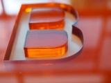 Acrylic letter B