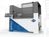 A Seires smaol format waterjet cutter A 0612 being displayed