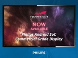 NoviSign signage app on a Philips screen
