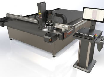 The Versa-Tech has a 3.2m X 3.2m cut area with laser, knife and router tooling.
