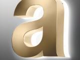 Halo Polished Gold Effect 3D Built-up Letter from Applelec