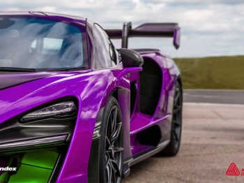 "A new range of custom colours from Avery Dennison's Supreme Wrapping Film range developed for Spandex, comprises 10 metallic colours with names ""inspired by the glamour and energy of motor racing""."