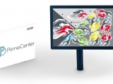 Prime Center logo on a software box and a computer screen.